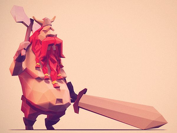 Low Poly Characters on Behance