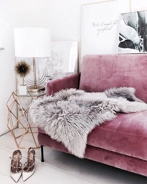 manifesting a pink velvet sofa or chair