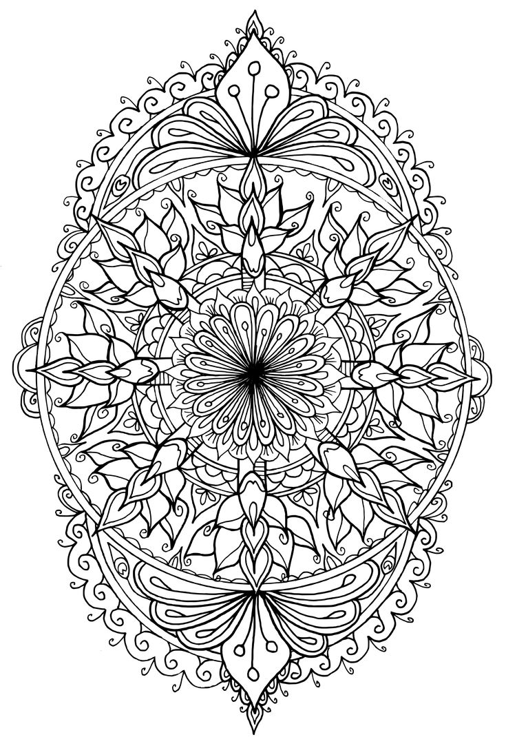 594 best coloriage mandalas images on pinterest mandalas coloring pages and coloring sheets - Colorier mandala ...