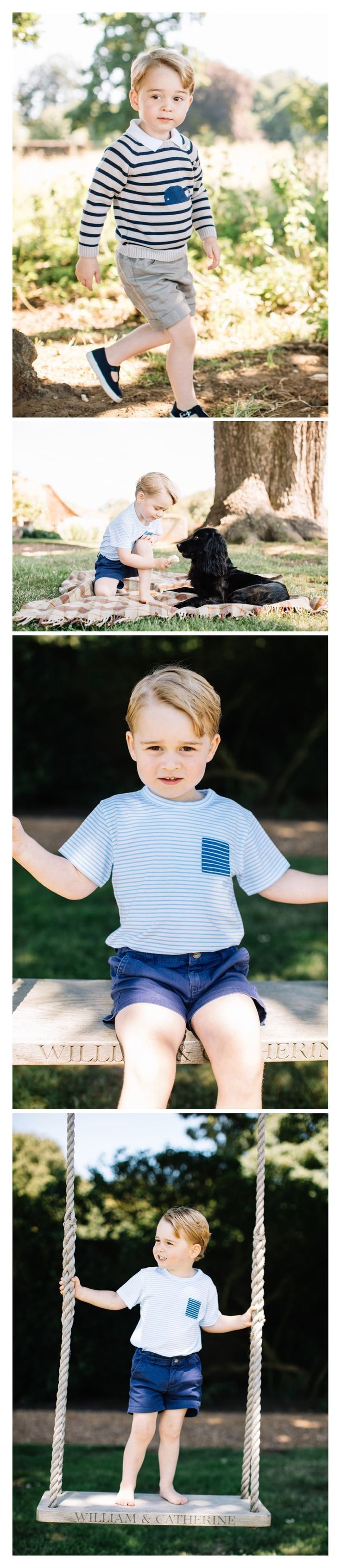 New Photos released by Kensington Palace to celebrate Prince George's 3rd Birthday
