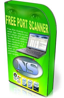 NsaSoft Freeware Software - Free Port Scanner  http://www.nsauditor.com/network_tools/free_port_scanner.html  Free Port Scanner is a small, fast, easy-to-use and robust port scanner for the Win32 platform. You can scan ports on fast machines in a few seconds and can perform scan on predefined port ranges.