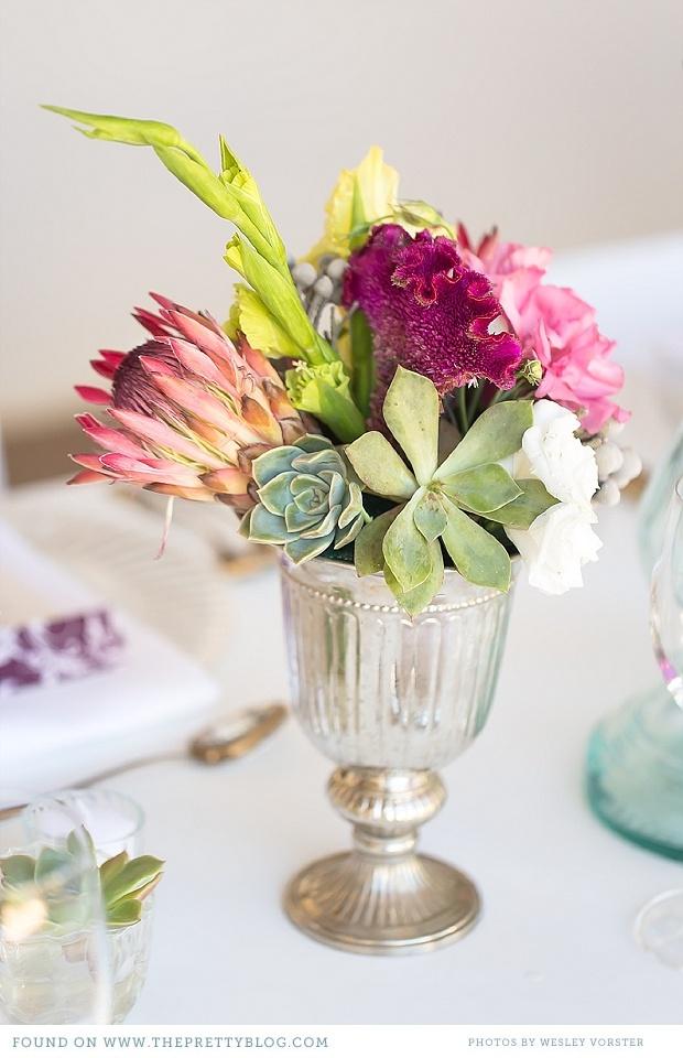 Protea flower table decoration | Photo: Wesley Vorster