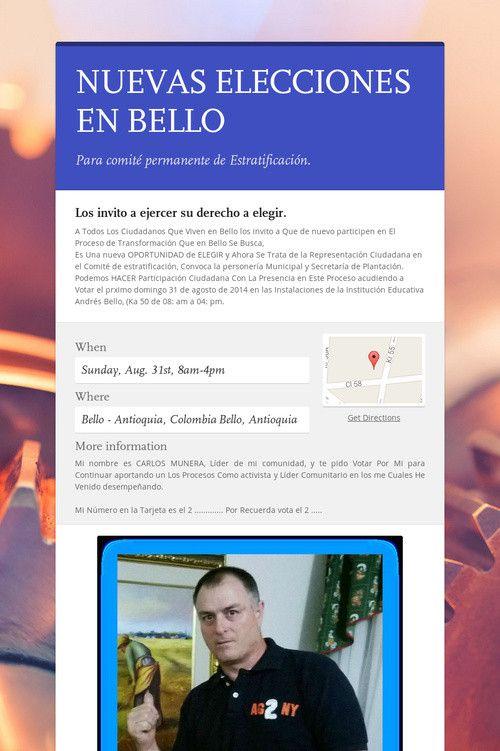NUEVAS ELECCIONES EN BELLO