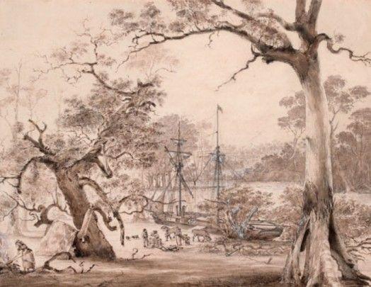 8. Founding of Melbourne, landing from the Yarra Basin.jpg (524×405)