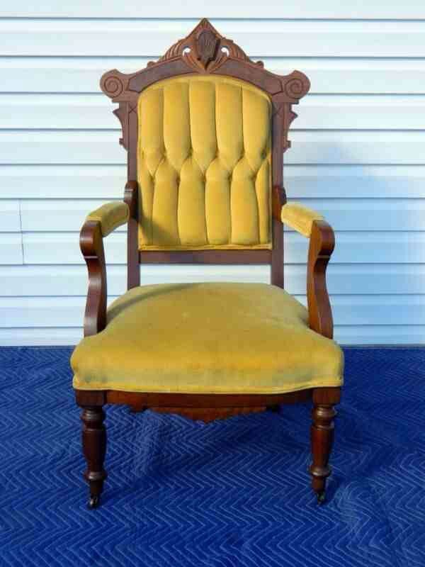Eastlake walnut parlor chair c. 1880  Furniture - Victorian Eastlake ...