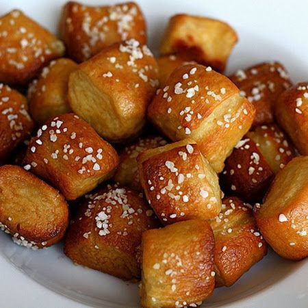 Bread maker Pretzel Bites - Time to dust off that bread machine that's been sleeping in storage!