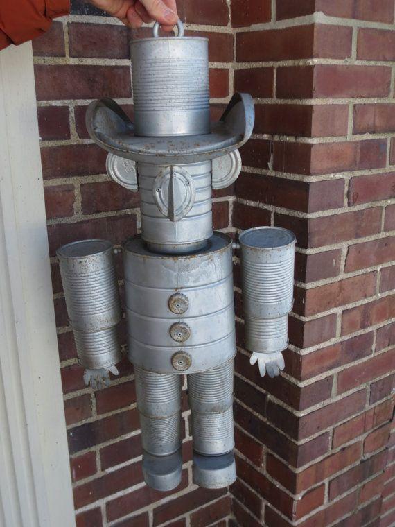 10 Ideas About Tin Can Man On Pinterest Creative Garden