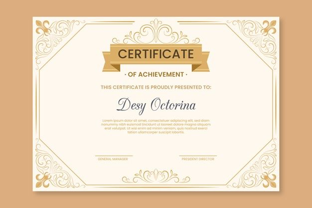 Elegant Theme For Certificate Template Certificate Templates Gift Card Template Certificate Design