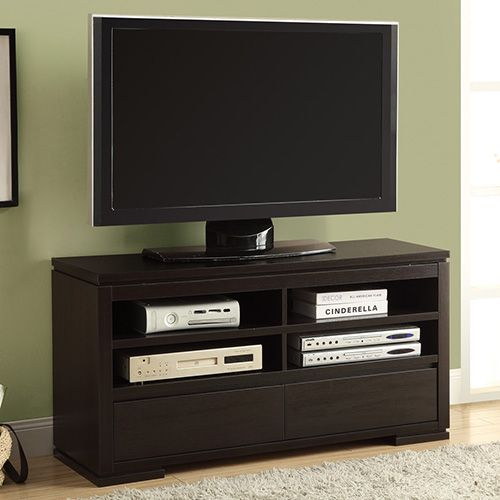"""Monarch 2570 - Cappuccino 48""""L TV Console with 2 Drawers 
