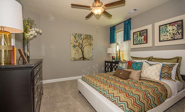 Lennar guest bedroom in lakes of savannah savannah cove - Lennar homes interior paint colors ...