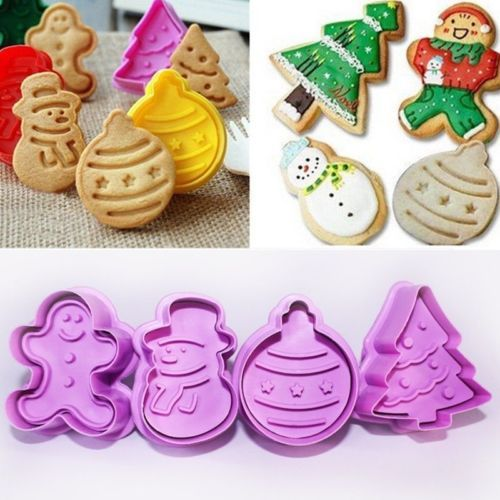4Pcs-Set-Christmas-Cookie-Biscuit-Plunger-Cutter-Mould-Fondant-Cake-Mold-Baking