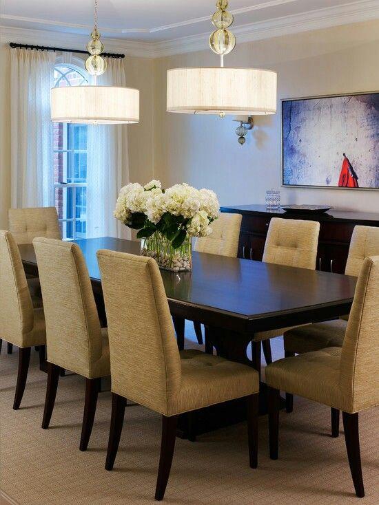 Centerpiece Idea Tone On Dining Room
