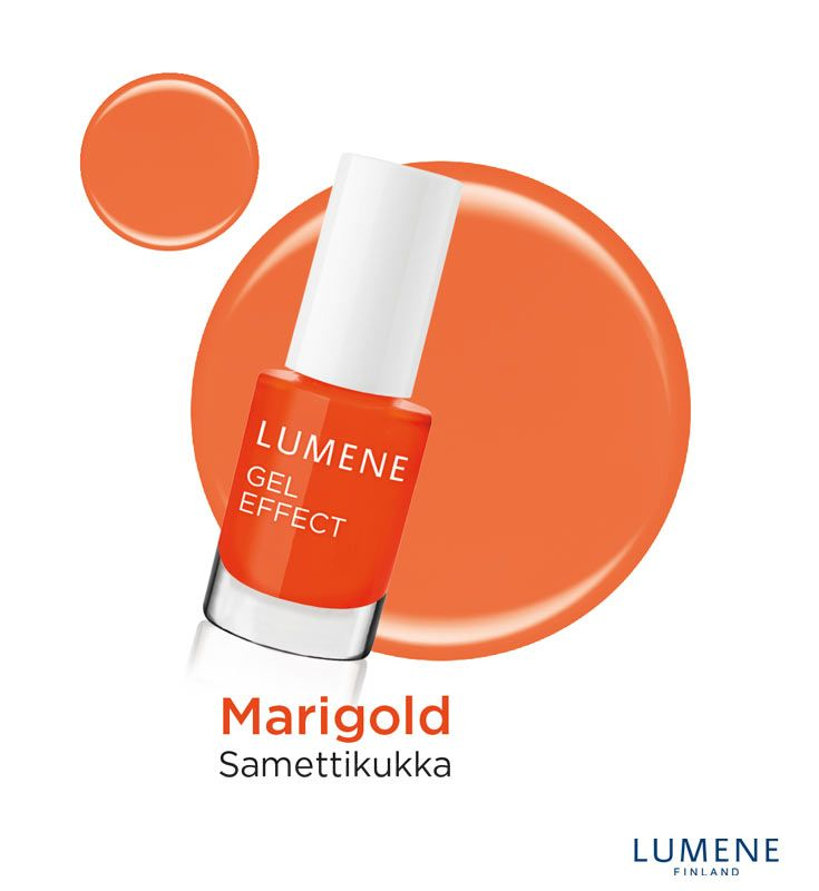 New Lumene Gel Effect Nail Polish shade 20 Marigold #Lumene #nailpolish