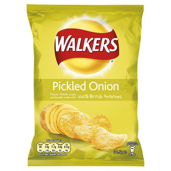 Pickled Onion Crisps.