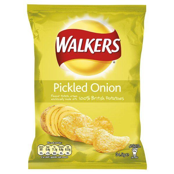 Pickled Onion Crisps.