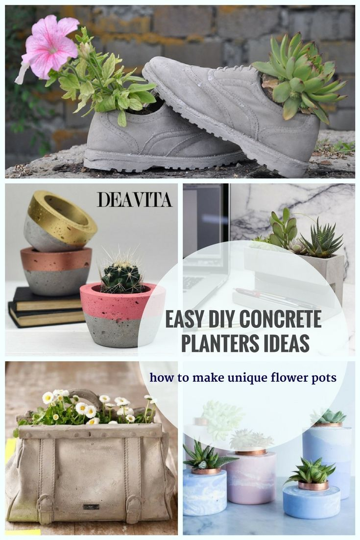 Diy concrete planters ideas are easy cheap and fast you can create your own designs and have unique flower pots for the house plants and not