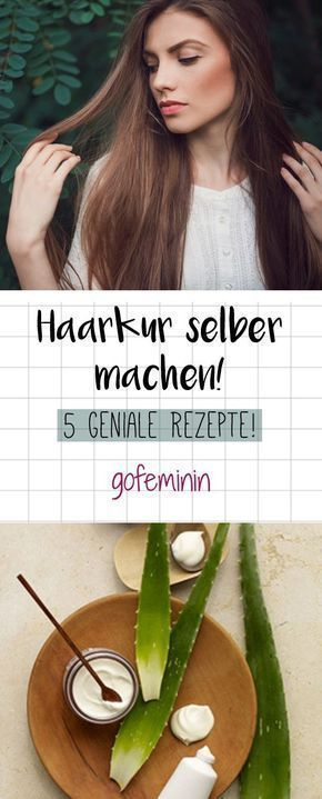 Make hair cure yourself: These 5 ingenious recipes you must know! - - # Skin care ...  -  Hautpflege-Rezepte