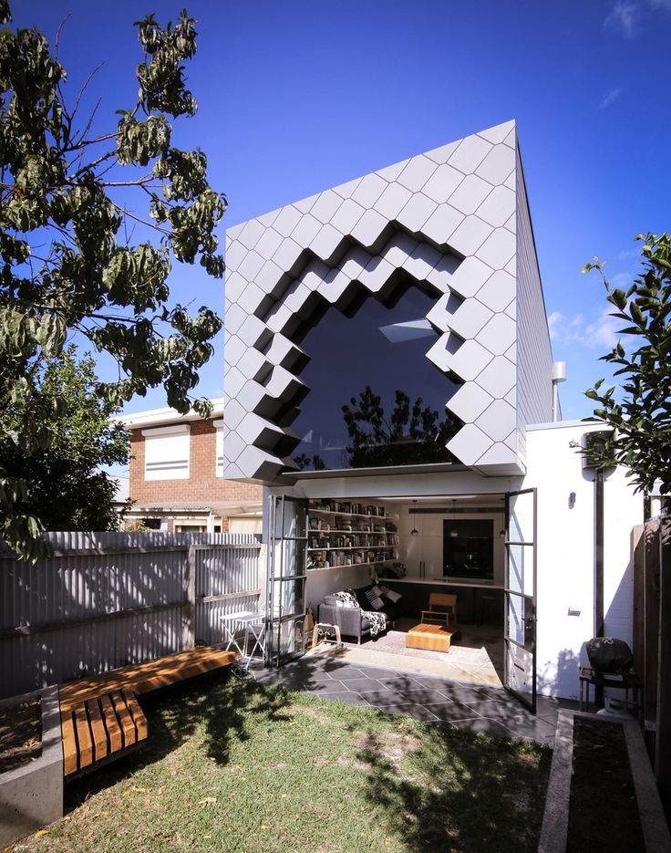 This tessellated box addition to Melbourne home was rejected by zinc installers   Architecture And Design