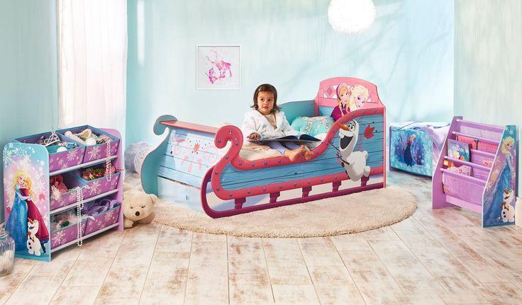 Cama infantil frozen de madera camas infantiles para for Cuartos para ninas frozen