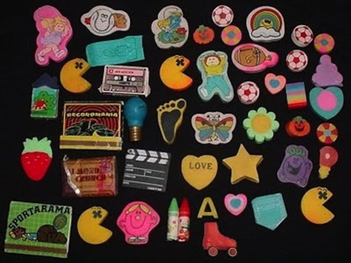 The simple thrill of the smell of your eraser collection.