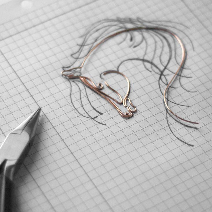 Wire art - horse ... work in progress Instagram @springstring