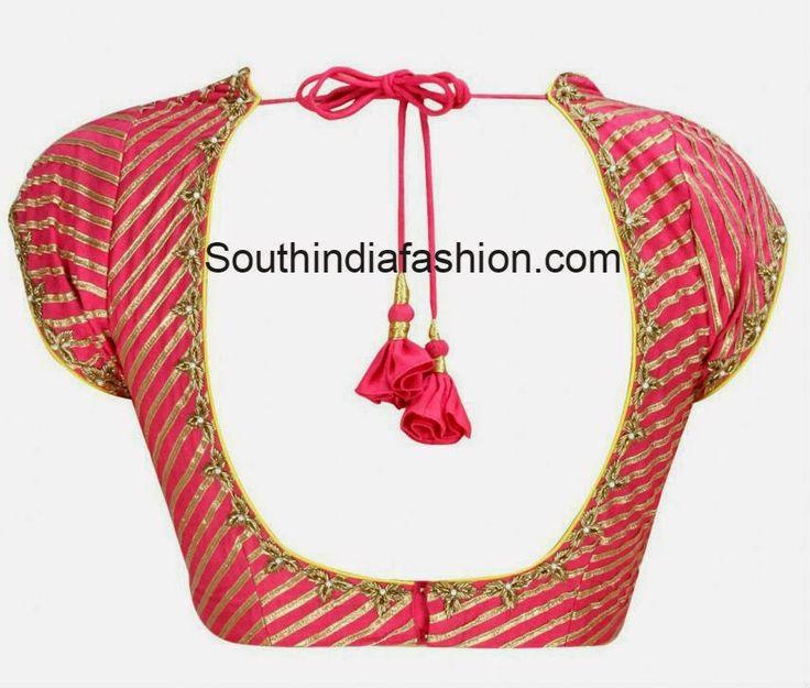Gota Work Blouse ~ Celebrity Sarees, Designer Sarees, Bridal Sarees, Latest Blouse Designs 2014