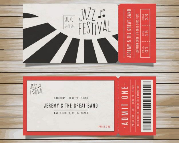 The Best Event Tickets Ideas On Pinterest Ticket Design