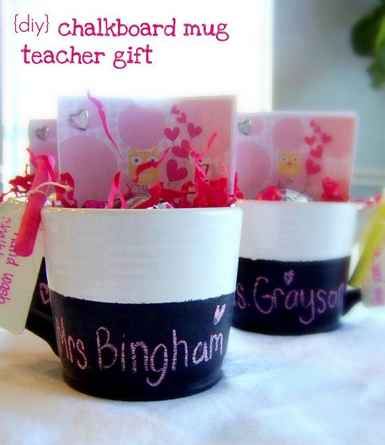 Chalkboard Mugs -- perfect Valentine gift, especially for teachers