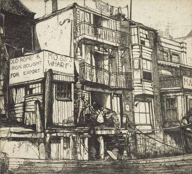 Graham Sutherland, buildings on the Thames