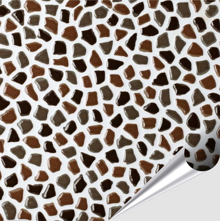Fliesenaufkleber Mosaik brauner Kiesel 15cm x 15cm  001