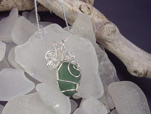 DIY ... How to Wire Wrap Beach Glass the Easy Way