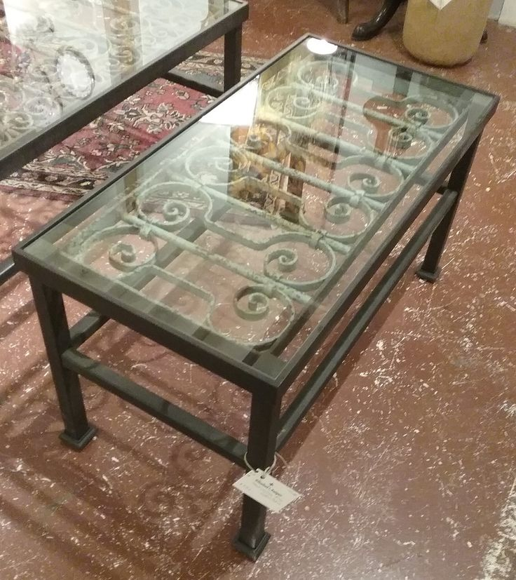 Iron Gate Turned Into Coffee Table, Available At Palladio Interiors  (attached To Palladio Garden
