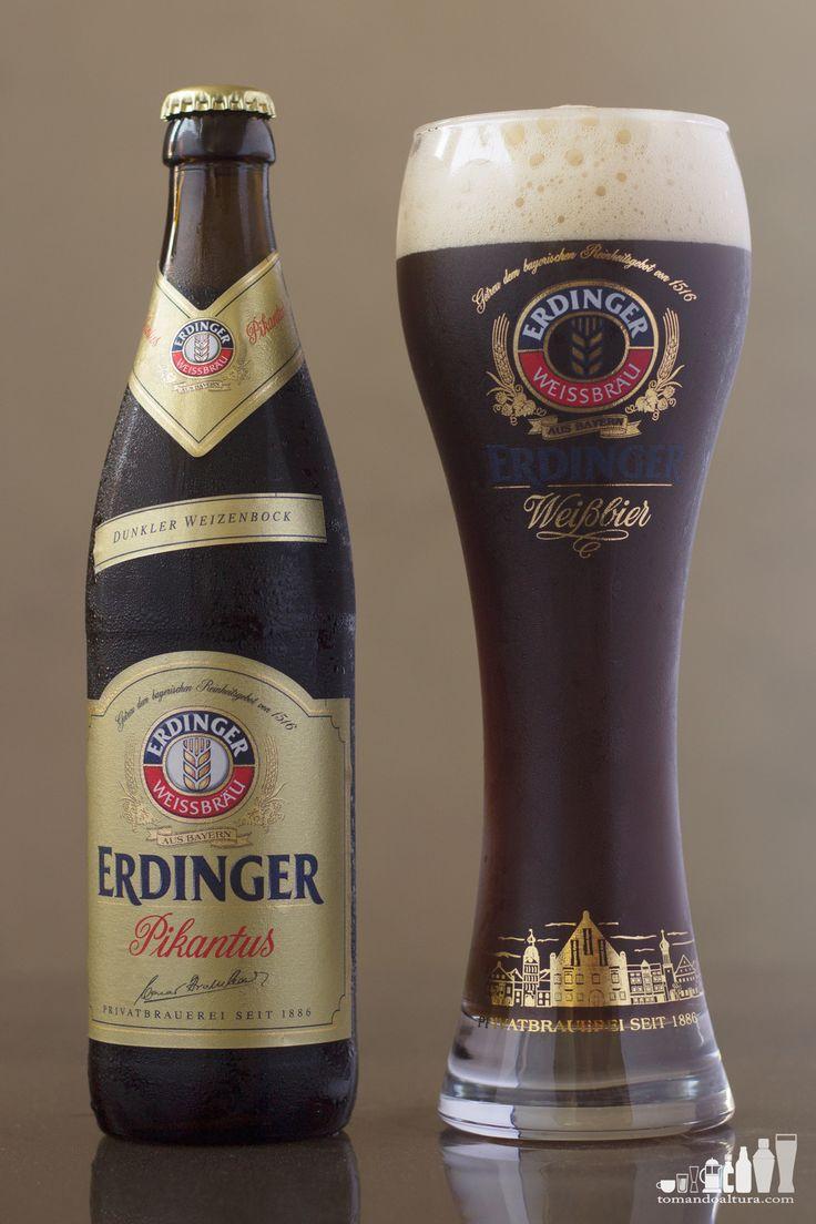 cervezas alemanas: Weizenbock de Erdinger.