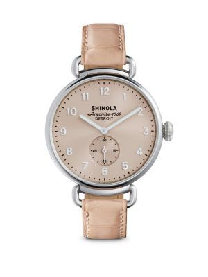 SHINOLA Runwell Pink Alligator Strap Watch. #shinola #watch