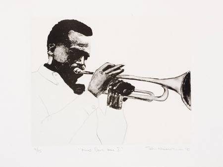 Sam Nhlengethwa: Miles Davis Solo I, 2010