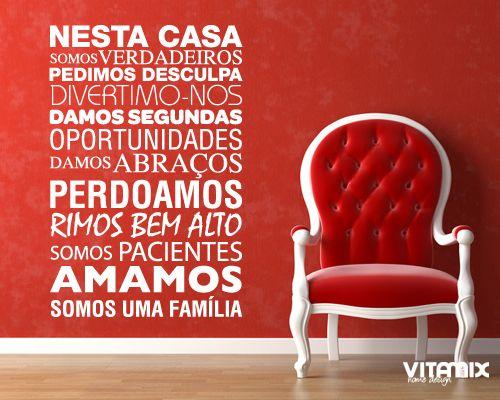 Somos uma Família < Frases | Citações & Poemas | autocolantes decorativos descritivos poema | VitamixHome vinil decorativo para a sua casa ou empresa