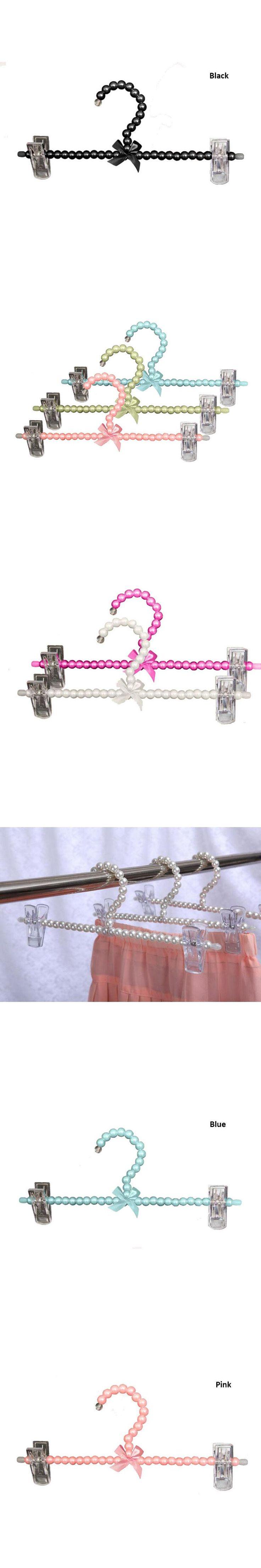 10 Pcs/ Lot Colorful Fancy Pearl Pants Skirt Hanger with Clips, Plastic Wedding Dress Bottom Hanger for Lady Girl