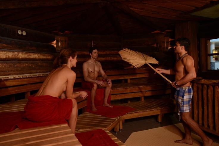 Aufguss in der Kelo-Sauna