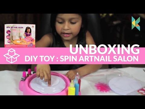 Spin Art Nail Salon DIY Toy Available in India - YouTube
