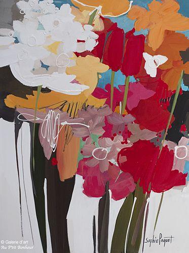 Sophie Paquet, 'Love, Love and Love!', 30'' x 40'' | Galerie d'art - Au P'tit Bonheur - Art Gallery