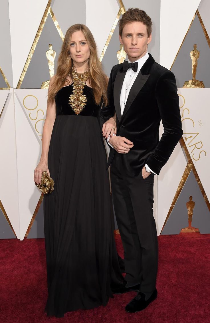Hannah Bagshawe and Eddie Redmayne attend the 88th Annual Academy Awards on February 28, 2016 in Hollywood, California. Picture: AP