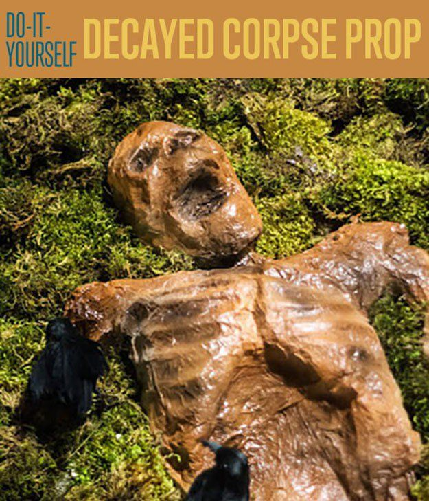 Here's a fantastic Halloween decoration idea to bring crafter out of you. It may be disgusting or grotesque but it will surely leave your guests talking.