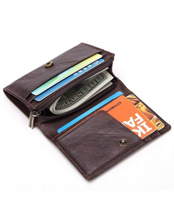 Mens Luxury style Genuine Reall Leather Wallet ID Credit card Holder Purse UK