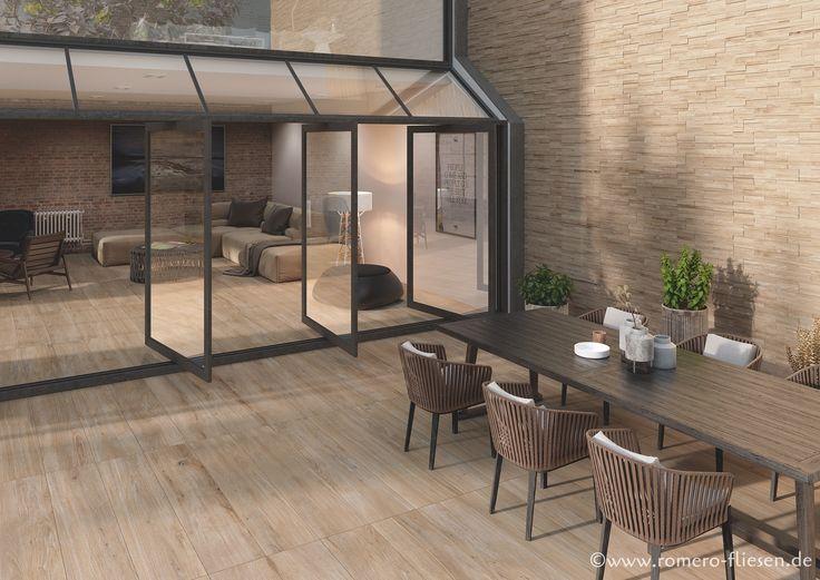 Wunderschöne Terrassenfliesen In Holzoptik Für Einen Gemütlichen Flair  #terrace #holzoptik #fliesen