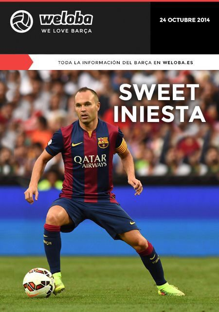 Portada Weloba 24/10/14 #FCBarcelona #Barça #Barcelona #FCB #fcblive #SomUnEquip #ViscaBarça #SomosBarça #Culè #igersFCB #CanBarça #Catalunya