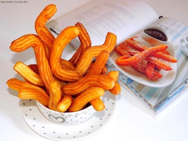 Churros - pyszne Hiszpańskie zawijaski. | Gotuj i piecz z Joanną, Sama słodycz i szczypta chili.