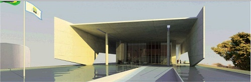 Teatro Municipal de Itapeva, SP, do portfólio do escritório Vital dos Santos Engenharia e Arquitetura