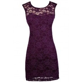 Dark Purple Lace Dress, Purple Lace Pencil Dress, Cute Purple Dress, Purple Lace Cocktail Dress, Dark Purple Lace Dress, Royal Purple Lace Dress