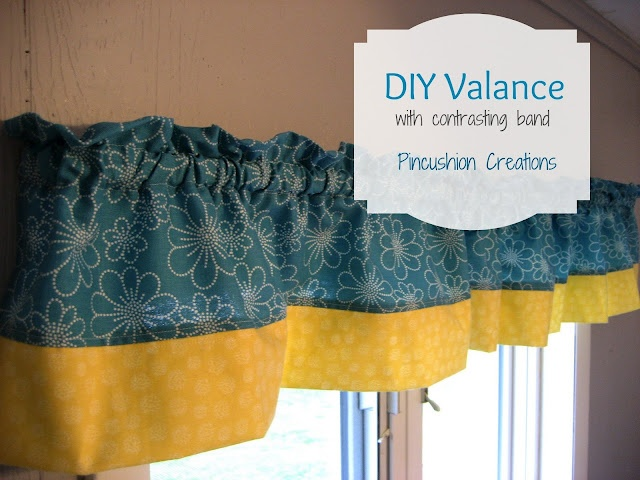 DIY Valence Tutorial at pincushioncreations - (need new curtains for JoJo's room)