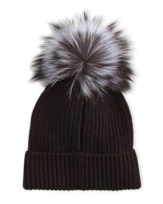 4954d1a1e64 Cashmere+Fur-Pompom+Hat+by+Neiman+Marcus+at+Neiman+Marcus+Last+Call.
